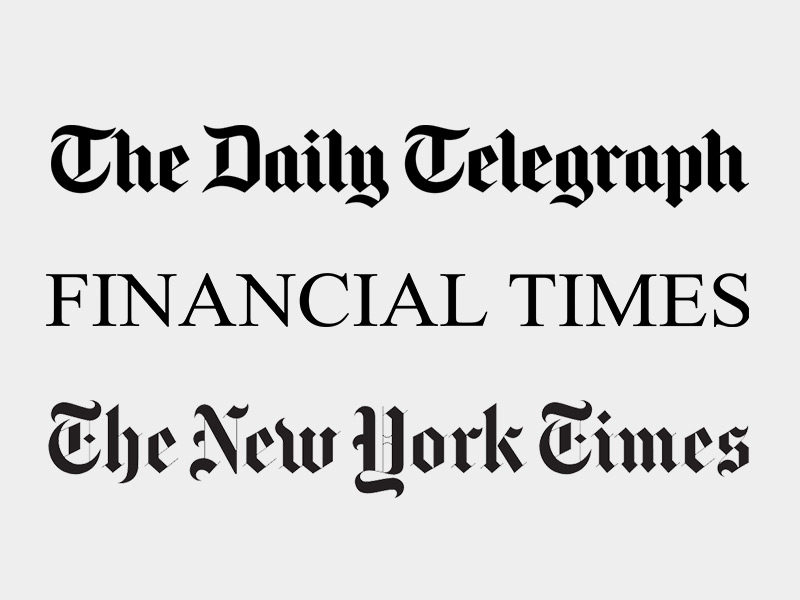 The Daily Telegraph | Financial Times | The NY Times